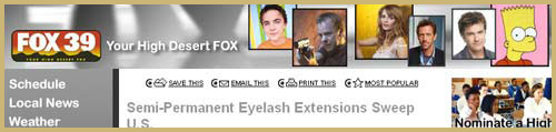 Watch Xtreme Lashes on Fox 39 Oregon