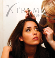 Applying Mascara To Eyelash Extensions