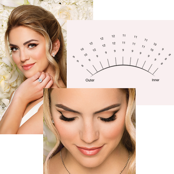 When it comes to bridal eyelash extensions marketing, timing is key. Read our 3 key tips below plus print out our step-by-step tutorial for creating the Classic Bride and Mother of the Bride lash extensions looks.