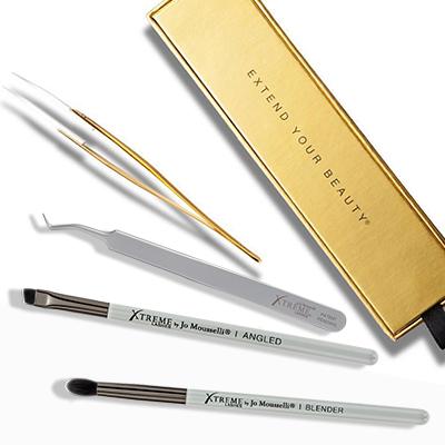 Xtreme Lashes tweezers and brushes
