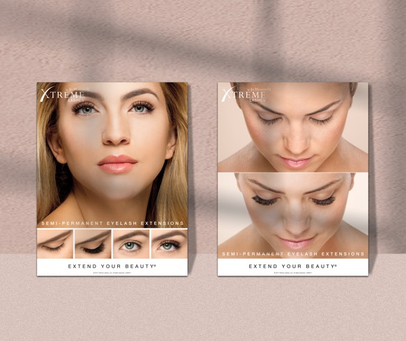 Branded Marketing Materials for Promoting Lash Services