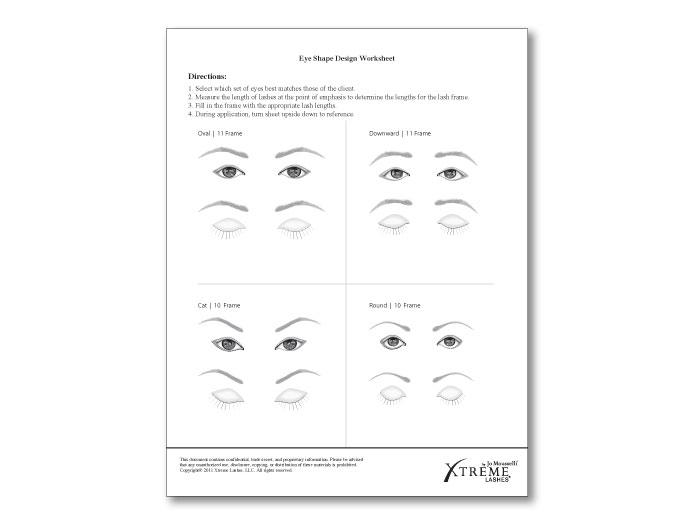 Eye Shape Design Worksheet