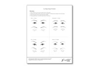 Eye Shape Design Worksheet (tablet of 25)
