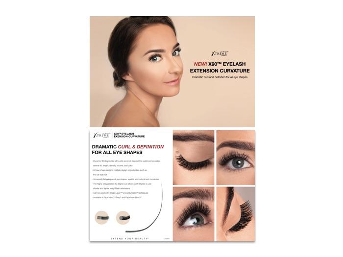 3f41ff6e8e3 X90™ Eyelash Extension Curvature Postcard (25 Pack)