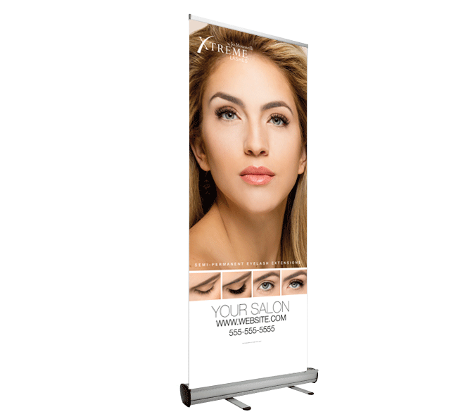 Custom Retractable Banner - Transform Your Eyes: Model 1