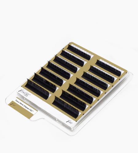 Faux Mink Ellipse HD™ Black X40®: 0.15 mm diameter | 8-14 mm multi-length